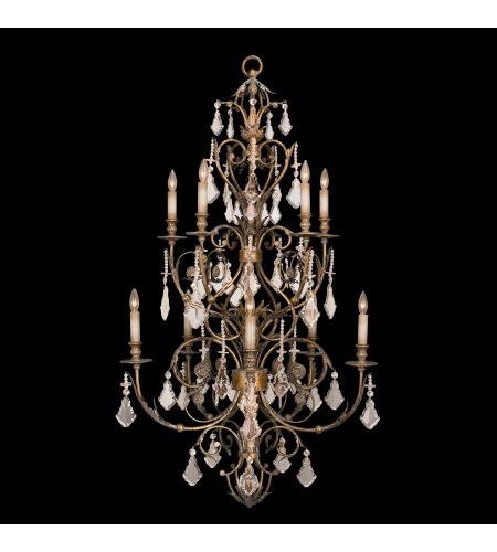 Fine Art Lamps 180940st Verona 10 Light Chandelier In Gold