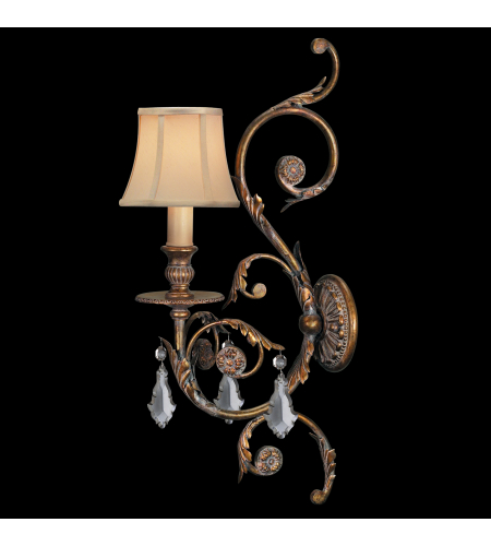 Fine Art Lamps 204750st Verona 1 Light Sconce In Gold