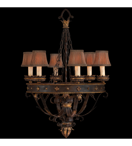 Fine Art Lamps 220140st Castile 6 Light Chandelier In Other Dark