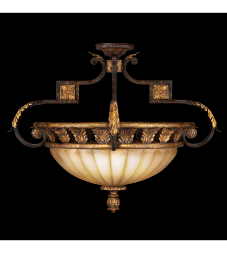 Fine Art Lamps 234645st Castile 3 Light Semi-Flush Mount In Other Dark