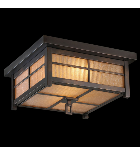 Fine Art Lamps 401080st Capistrano 2 Light Outdoor Flush Mount In Bronze