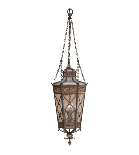 Fine Art Lamps 402582ST Chateau Outdoor 4 Light Outdoor Lantern in Black