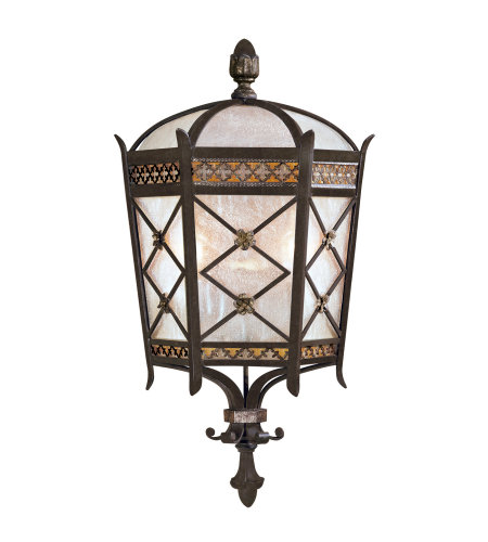Fine Art Lamps 402781ST Chateau Outdoor 2 Light Outdoor Coupe in Black