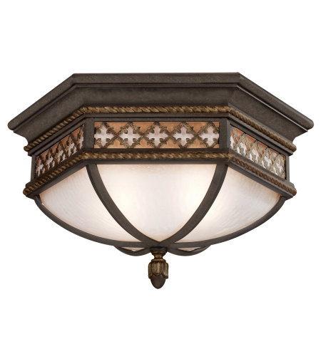 Fine Art Lamps 403082ST Chateau Outdoor 2 Light Outdoor Flush Mount in Black