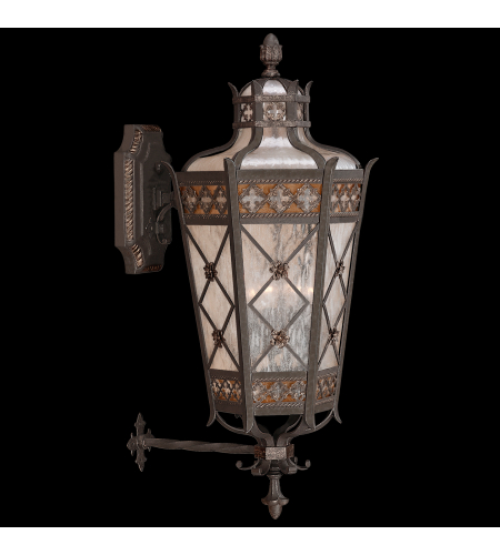 Fine Art Lamps 403681st Chateau Outdoor 4 Light Outdoor Wall Mount In Black