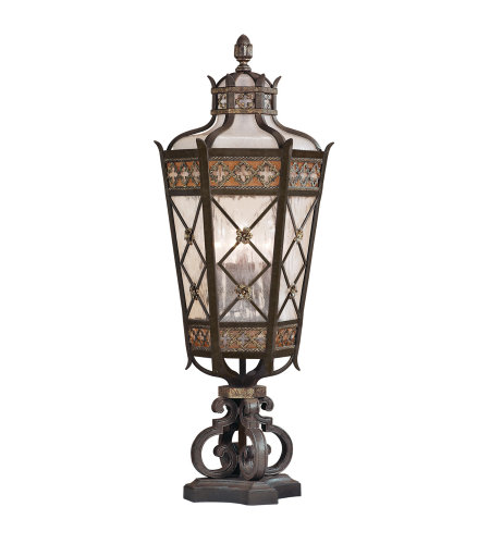 Fine Art Lamps 403983ST Chateau Outdoor 5 Light Outdoor Pier Mount in Black