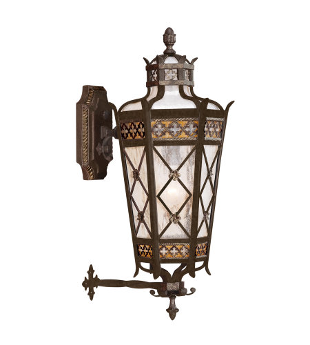 Fine Art Lamps 404381ST Chateau Outdoor 1 Light Outdoor Wall Mount in Black