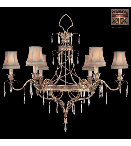 Fine Art Lamps 407040-2st Pastiche 6 Light Chandelier In Gold
