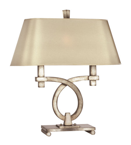 Fine Art Lamps 447110ST Portobello Road 2 Light Table Lamp in Silver