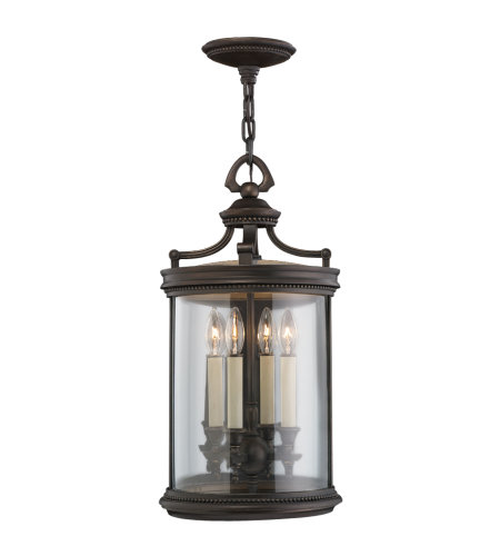 Fine Art Lamps 538282ST Louvre 4 Light Outdoor Lantern in Bronze