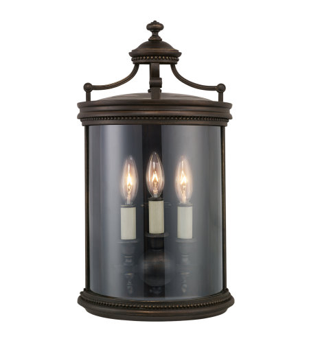 Fine Art Lamps 539081ST Louvre 3 Light Outdoor Coupe in Bronze