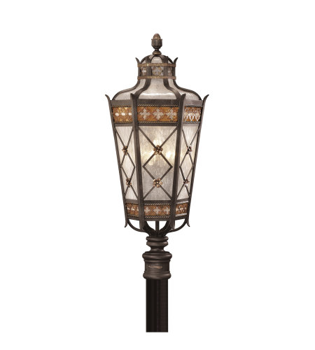 Fine Art Lamps 541680ST Chateau Outdoor 5 Light Outdoor Post Mount in Black