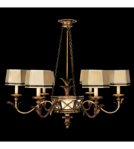 Fine Art Lamps 547940st Newport 6 Light Chandelier In Gold