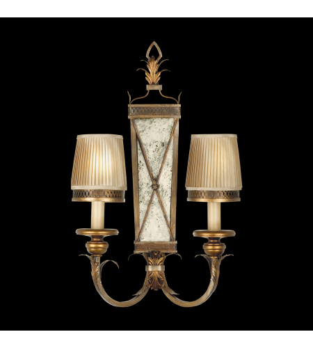 Fine Art Lamps 548250st Newport 2 Light Sconce In Gold