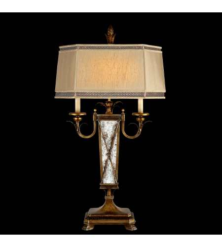 Fine art lamps 549410st newport 2 light table lamp in gold