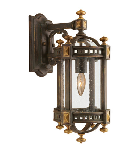 Fine Art Lamps 564581ST Beekman Place 1 Light Outdoor Wall Mount in Brown