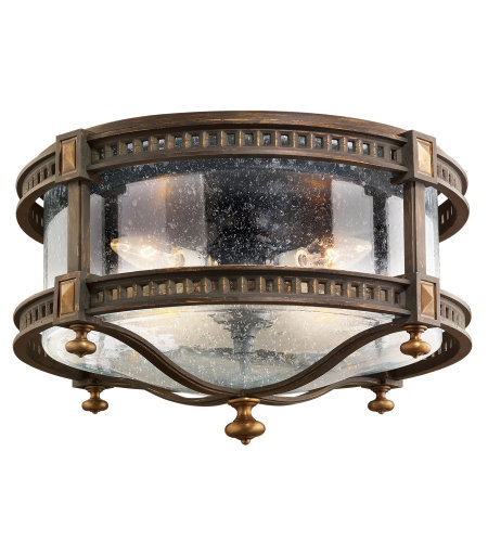 Fine Art Lamps 564982ST Beekman Place 4 Light Outdoor Flush Mount in Brown