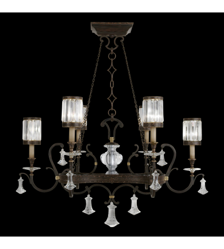 Shop for chandelier at foundry lighting fine art lamps 583840st eaton place 6 light chandelier in black aloadofball Images
