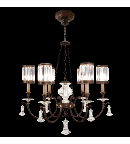 Fine Art Lamps 584240st Eaton Place 6 Light Chandelier In Black