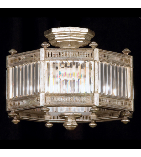 Fine Art Lamps 584640-2st Eaton Place 3 Light Semi-Flush Mount In Silver