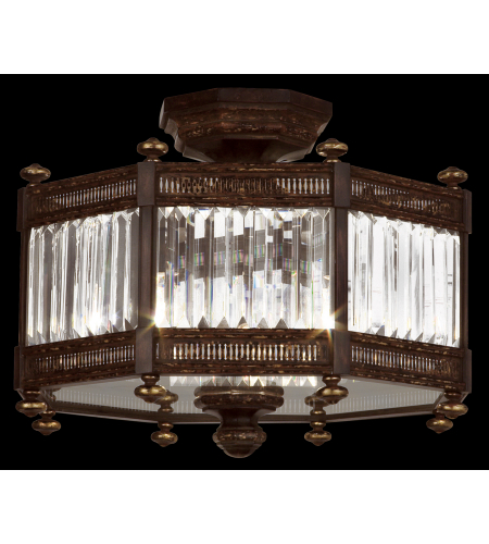 Fine Art Lamps 584640st Eaton Place 3 Light Semi-Flush Mount In Black
