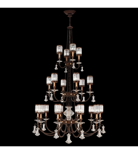 Fine Art Lamps 584840st Eaton Place 20 Light Chandelier In Black