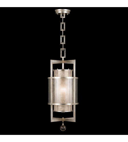 Fine Art Lamps 590040-2st Singapore Moderne 1 Light Lantern In Silver