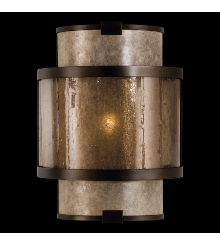 Fine Art Lamps 590550st Singapore Moderne 1 Light Sconce In Bronze