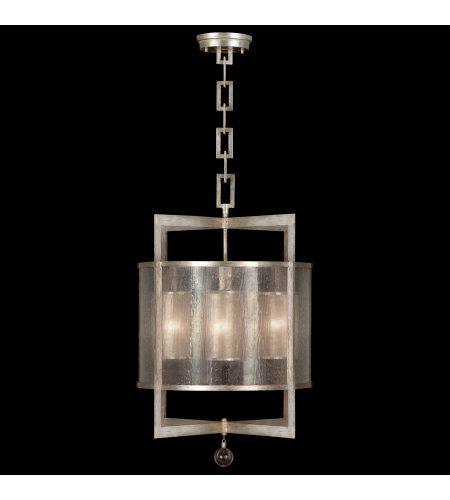 Fine Art Lamps 591140-2st Singapore Moderne 4 Light Lantern In Silver
