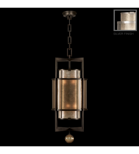 Fine Art Lamps 591240-2st Singapore Moderne 6 Light Lantern In Silver