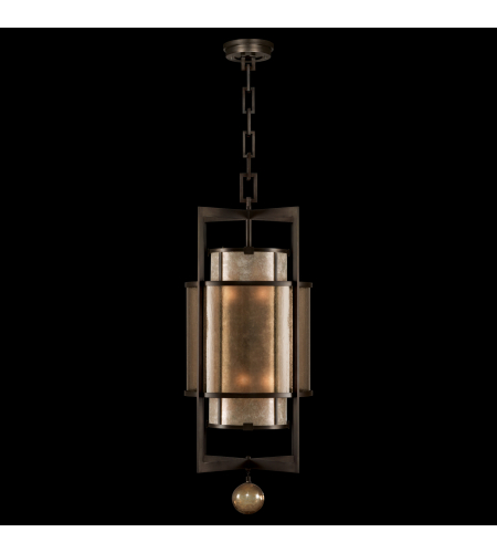 Fine Art Lamps 591240ST Singapore Moderne 6 Light Lantern Of Steel In Brown Patinated Bronze