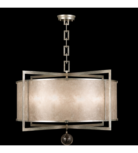 Fine Art Lamps 591540-2st Singapore Moderne 8 Light Pendant In Silver