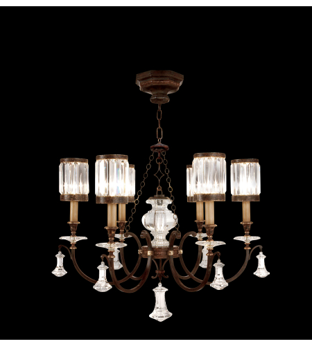 Fine Art Lamps 595440st Eaton Place 6 Light Chandelier In Black