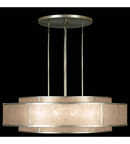 Fine Art Lamps 600140-2st Singapore Moderne 12 Light Pendant In Silver