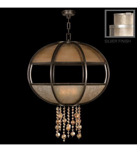 Fine Art Lamps 600340-2st Singapore Moderne 8 Light Pendant In Silver