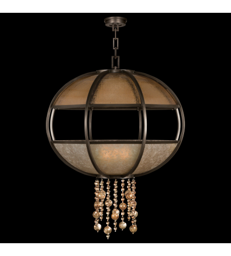 Fine Art Lamps 600340st Singapore Moderne 8 Light Pendant In Bronze