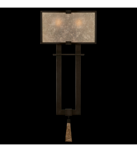 Fine Art Lamps 600550st Singapore Moderne 2 Light Sconce In Bronze