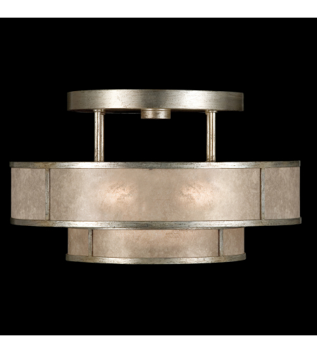 Fine Art Lamps 600940-2st Singapore Moderne 3 Light Semi-Flush Mount In Silver