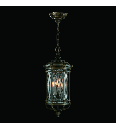 Fine Art Lamps 610882st Warwickshire 4 Light Outdoor Lantern In Black