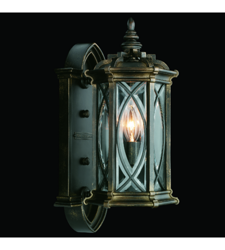 Fine Art Lamps 612681st Warwickshire 1 Light Outdoor Wall Mount In Black