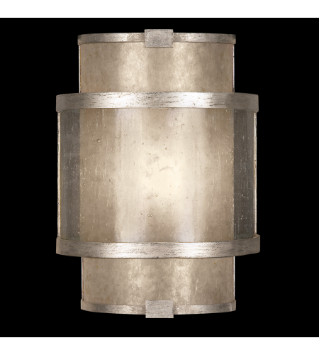 Fine Art Lamps 618050-2st Singapore Moderne 1 Light Sconce In Silver
