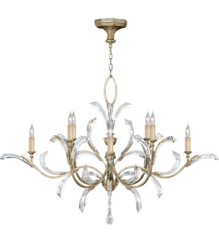 Fine Art Lamps 701240ST Beveled Arcs 8 Light Chandelier in Silver