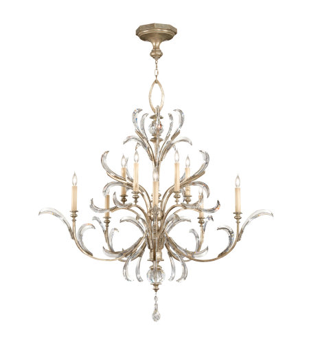 Fine Art Lamps 701340ST Beveled Arcs 10 Light Chandelier in Silver