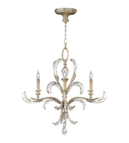 Fine Art Lamps 701540ST Beveled Arcs 4 Light Chandelier in Silver