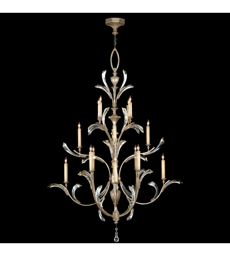 Fine Art Lamps 702040st Beveled Arcs 16 Light Chandelier In Silver