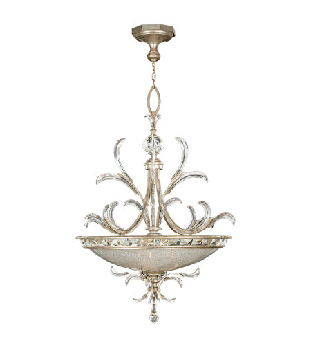 Fine Art Lamps 704440ST Beveled Arcs 3 Light Pendant in Silver