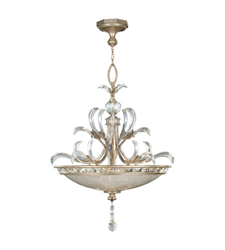 Fine Art Lamps 704540ST Beveled Arcs 3 Light Pendant in Silver