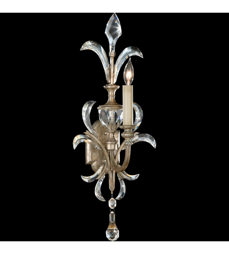 Fine Art Lamps 704950st Beveled Arcs 1 Light Sconce In Silver