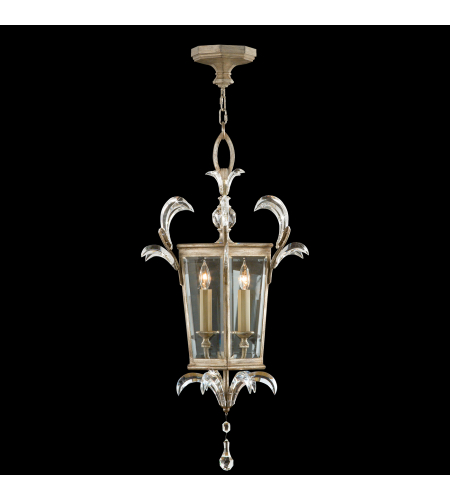 Fine Art Lamps 705440st Beveled Arcs 3 Light Lantern In Silver