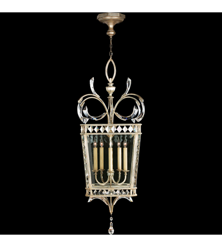 Fine Art Lamps 705640st Beveled Arcs 5 Light Lantern In Silver